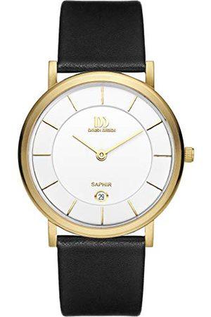 Danish Design Męski analogowy zegarek kwarcowy ze skórzanym paskiem IQ15Q898