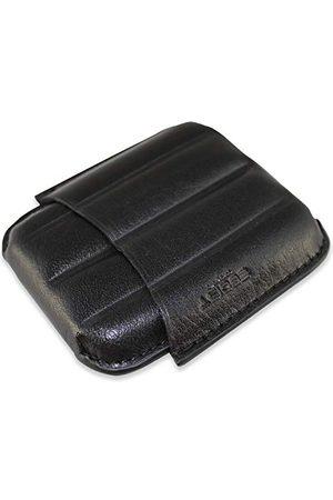 Egoist Futerał na cygara ze skóry premium na 4 cygara, akcesoria do cygar, palacze na zewnątrz - antresola (czarna)
