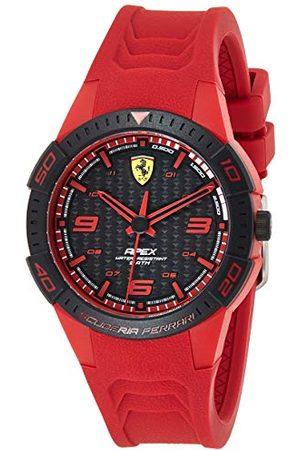 Scuderia Ferrari Męski analogowy zegarek kwarcowy z silikonowym paskiem 0840033