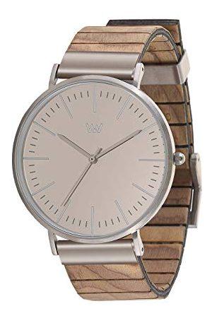 WeWood Unisex analogowy japoński zegarek kwarcowy z drewnianą bransoletką WW61003