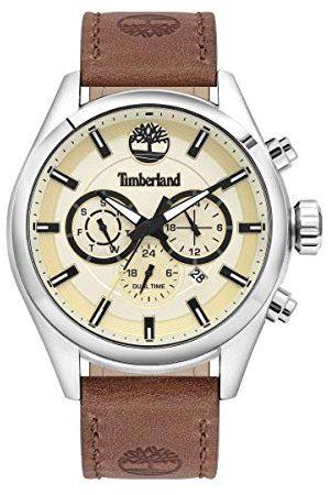 Timberland Męski analogowy zegarek kwarcowy ze skórzaną skórą cielęcą bransoletka TBL16062JYS.14