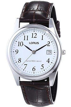Lorus Klassik męski zegarek z podkładką palladową i skórzanym paskiem RS965BX9