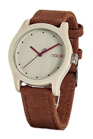 NAAK Unisex dla dorosłych analogowy kwarcowy zegarek z nylonowym paskiem 24-44