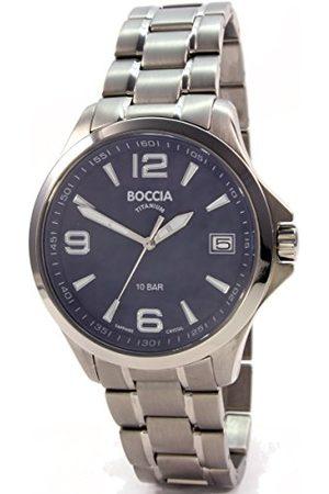 Boccia 3591-03 analogowy zegarek kwarcowy z bransoletką tytanową