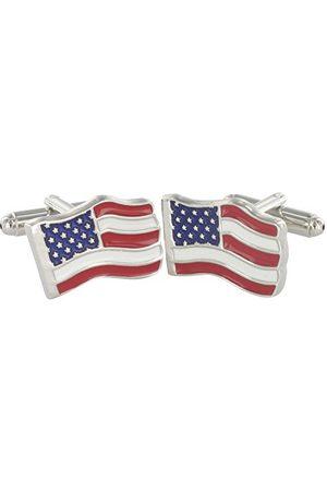 Teroon Spinki do mankietów unisex flaga amerykańska 609034