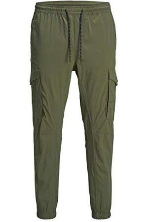 Jack & Jones Męskie spodnie Jjigordon Jjflake Cargo Pant AKM Olive spodnie