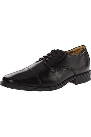 Clarks Męska czapka Tilden Cap_Derby, - Black Leather - 50 EU
