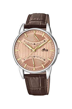 Lotus Męski multicyferblat kwarcowy zegarek ze skórzanym paskiem 18429/2