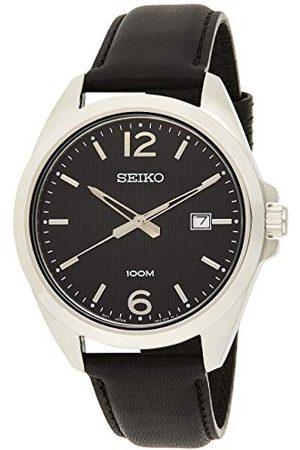 Seiko Męski analogowy zegarek kwarcowy z paskiem tekstylnym 1