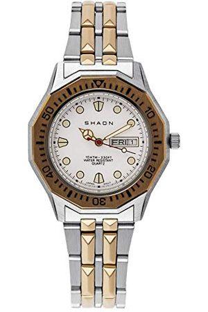 Shaon Męski analogowy zegarek kwarcowy z bransoletką ze stali szlachetnej 28-8002-18