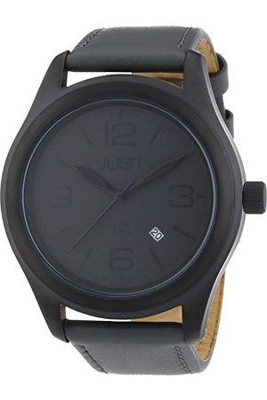 Just Watches Męski zegarek na rękę XL analogowy kwarcowy skóra 48-S5925BK-GR