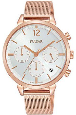 Pulsar Kwarcowy zegarek damski chronograf stal szlachetna z metalowym paskiem PT3944X1