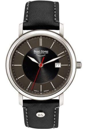 Soehnle Bruno Söhnle męski analogowy kwarcowy zegarek ze skórzanym paskiem 17-13138-741
