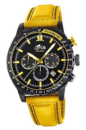 Lotus Męski chronograf kwarcowy zegarek ze skórzanym paskiem 18588/1