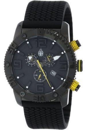 Burgmeister Męski zegarek kwarcowy z czarną tarczą chronografu i czarnym silikonowym paskiem BM521-622A