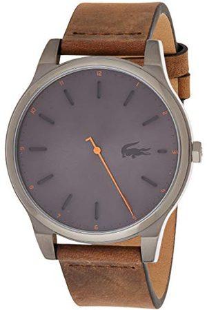 Lacoste Męski analogowy klasyczny zegarek kwarcowy ze skórzanym paskiem 2010968