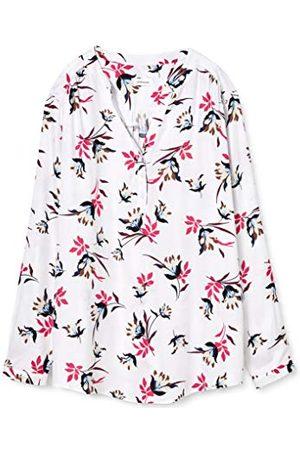 Seidensticker Damska bluzka z dekoltem w serek, regularny krój,