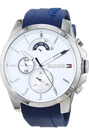 Tommy Hilfiger Męski Multi cyferblat kwarcowy zegarek z silikonową bransoletką 1791349