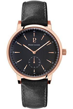 Pierre Lannier Męski analogowy zegarek kwarcowy ze skórzanym paskiem 216H433