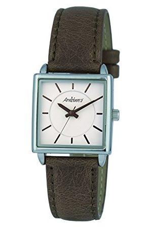 Arabians Męski analogowy zegarek kwarcowy ze skórzanym paskiem DBA2252B