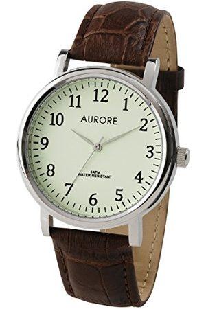 AURORE Męski analogowy zegarek kwarcowy z bransoletką ze stali szlachetnej AH0054