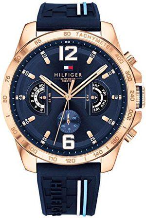 Tommy Hilfiger Unisex Multi tarcza kwarcowy zegarek z bransoletką silikonową 1791474