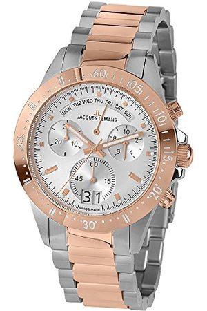 Jacques Lemans Męski analogowy zegarek kwarcowy z bransoletką ze stali szlachetnej 40-10B