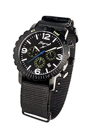 BOGEY Męski chronograf kwarcowy zegarek z gumową bransoletką BSFS002GRBK