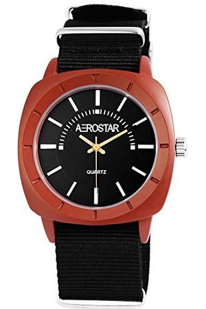 Aerostar Męski analogowy zegarek kwarcowy z bransoletką z materiału 21105100005