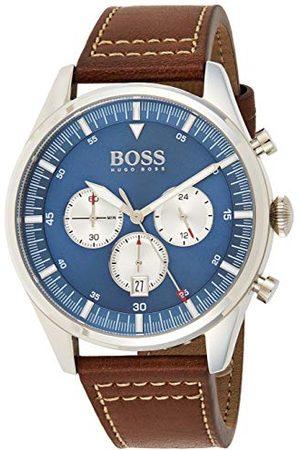 HUGO BOSS Męski analogowy zegarek kwarcowy ze skórzanym paskiem 1513709