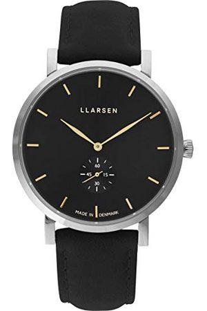 LLARSEN Męski analogowy zegarek kwarcowy ze skórzanym paskiem 143SBG3-SCOAL20