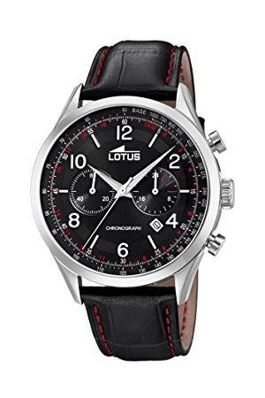 Lotus Męski chronograf kwarcowy zegarek ze skórzanym paskiem 18557/4