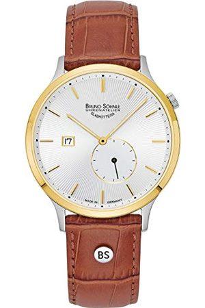 Soehnle Bruno Söhnle męski analogowy kwarcowy zegarek z prawdziwej skóry pasek 17-23212-241