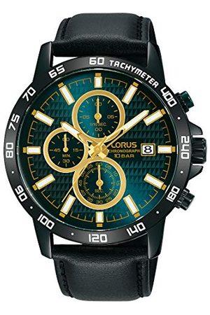 Lorus Sport męski zegarek chronograf stal szlachetna ze skórzanym paskiem RM319GX9