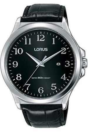 Lorus Klasyczny zegarek męski stal szlachetna ze skórzanym paskiem RH969KX8