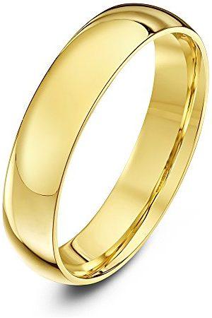 THEIA Unisex polerowane 14-karatowe żółte złoto ciężka obrączka ślubna / pierścionek e Żółte Złoto, T, colore: Żółte Złoto, cod. TH13889