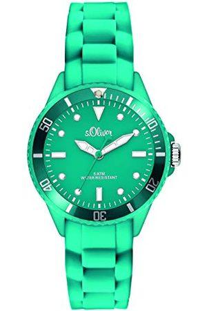 s.Oliver Analogowy zegarek kwarcowy, z silikonowym paskiem, unisex SO-2581-PQ /