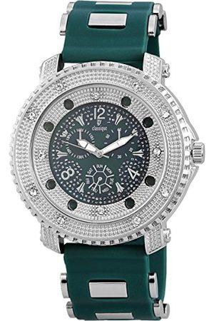 Classique Męski analogowy zegarek kwarcowy z silikonowym paskiem RP357260002