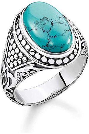 Thomas Sabo TR2241-878-17-56 pierścionek uniseks turkusowy, srebro próby 925, poczerniane