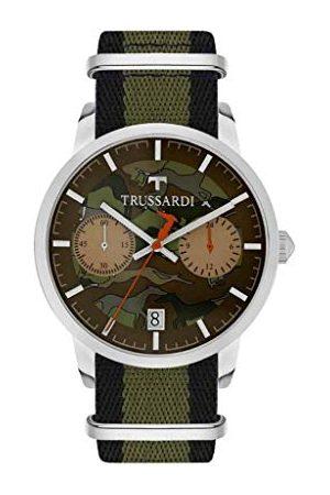 Trussardi Męski chronograf kwarcowy zegarek ze skórzanym paskiem R2471613003