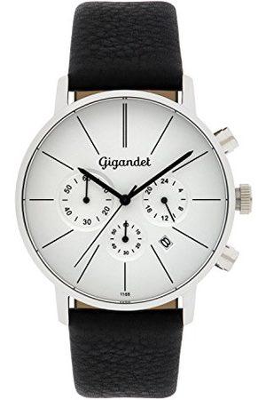 Gigandet G32 – 001 – zegarek dla mężczyzn, skórzany pasek, czarny
