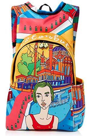 Morikukko Unisex-dorosły plecak z kapturem plecak Stambuł wielokolorowy (Stambuł)
