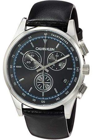 Calvin Klein KAM271C1 męski analogowy zegarek kwarcowy z prawdziwej skóry
