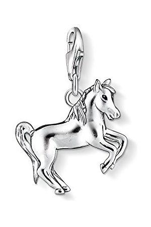 Thomas Sabo Damski charm wisiorek koń Charm Club srebro wysokiej próby 925 czarny 1074-007-12