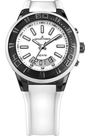 Jacques Lemans Męski zegarek na rękę Multi tarcza kwarcowy silikon 1-1786J