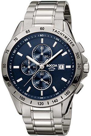 Boccia Męski chronograf zegarek kwarcowy z tytanową bransoletką 3751-01