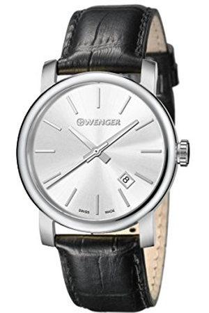 Wenger Męski analogowy zegarek kwarcowy ze skórzanym paskiem 01.1041.122