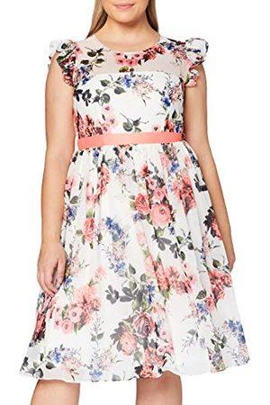 Gina Bacconi Damska sukienka koktajlowa Brinda szyfonowa z rękawami Frill