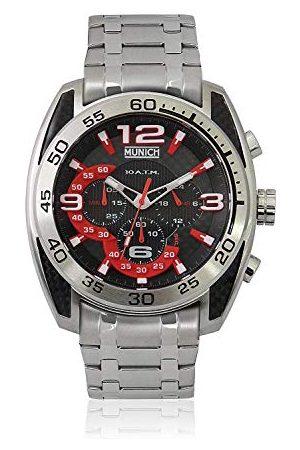 Munich Unisex dla dorosłych analogowy zegarek kwarcowy z bransoletką ze stali szlachetnej MU+135.1A