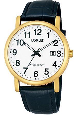 Lorus Klasyczny zegarek męski stal szlachetna ze skórzanym paskiem RG836CX9